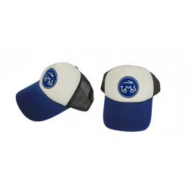 Pet met Tomos logo in de kleur blauw