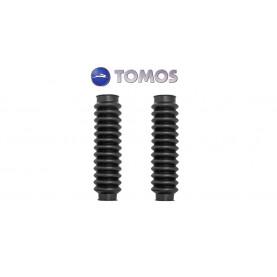 Voorvorkrubbers origineel Tomos 2 stuks zwart.