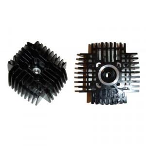 Cilinderkop Tomos. 50cc / 38mm.  zwart - Snel - Hoge druk.