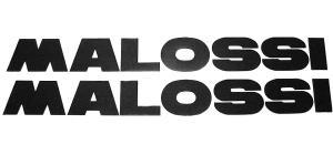 Malossi 30cm zwart 2-delig sticker set