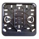 Kentekenplaat houder vierkant of staand zwart.