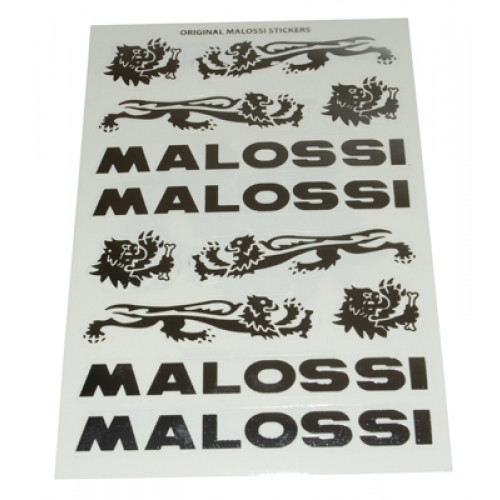 Stickerset Malossi Chroom/Grijs. 3 Delig.