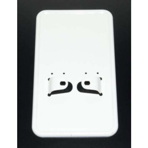 Kentekenplaat houder chroom of wit, staand of liggend.