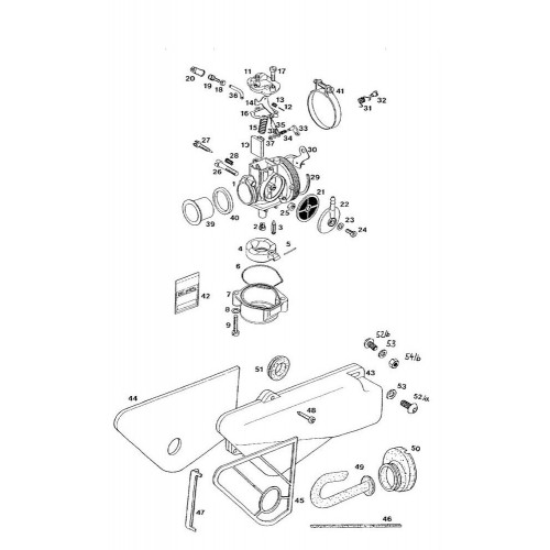 Vlotterbak pakking ring Tomos A35 / Dell' Orto SHA carburateur.