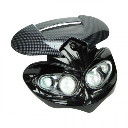 custom koplamp streetfight carbon tomos a35