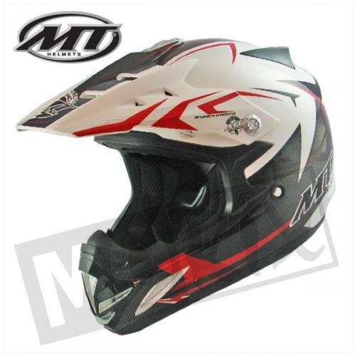 Helm kids steel zwart/rood