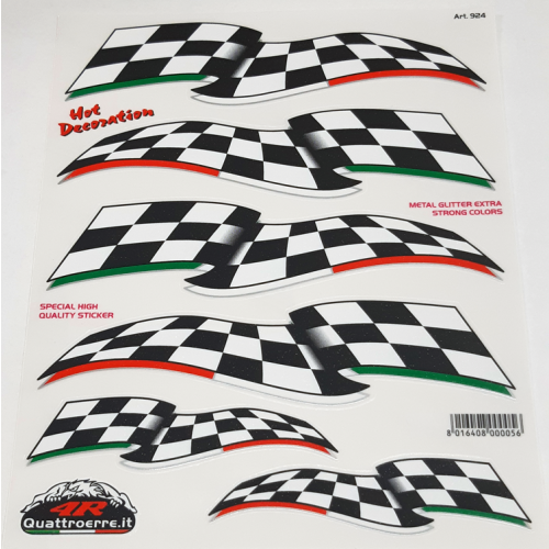 Quattroerre Finish vlag sticker set 8 delig