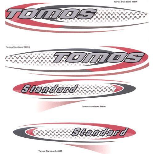 Stickerset Tomos standard nieuw of oud model.