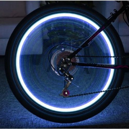 Ventieldop met LED flitslamp sensor 112 blauw. 2 stuks incl. batterijen