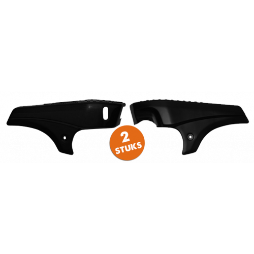 Zijscherm set Tomos A35 zwart (ongespoten) . (2 stuks)